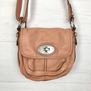Fossil Small Leather Purse Pink Peach